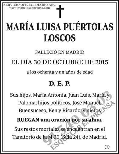 María Luisa Puértolas Loscos